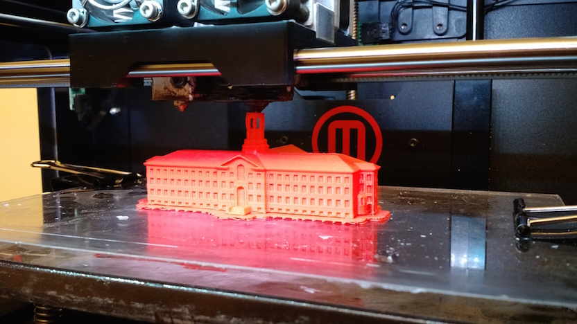 Nassau Hall Printing on a Makerbot